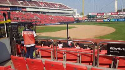 KT Wiz Park, section: 108, row: 4, seat: 44