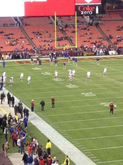 FedEx Field, section: 314, row: 4, seat: 20