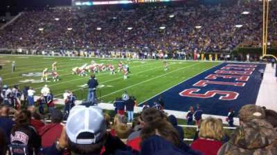 Vaught-Hemingway Stadium , section: A, row: 16, seat: 14