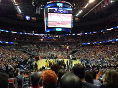 Verizon Center, section: 105, row: K, seat: 2