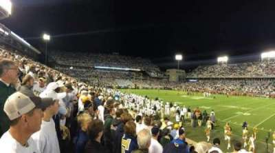 Bobby Dodd Stadium, row: 8, seat: 9