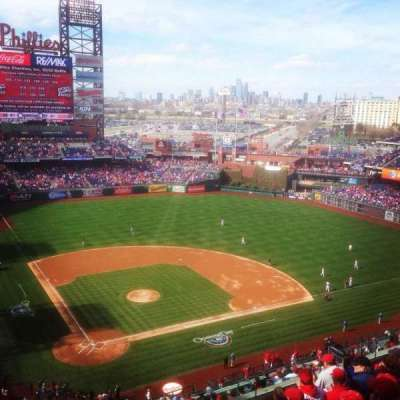 Citizens Bank Park, section: 418, row: 8, seat: 19