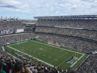 Lincoln Financial Field, section: 207, row: 25, seat: 18