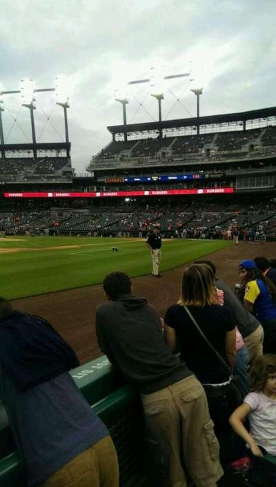 Comerica Park, section: 137, row: 2, seat: 11