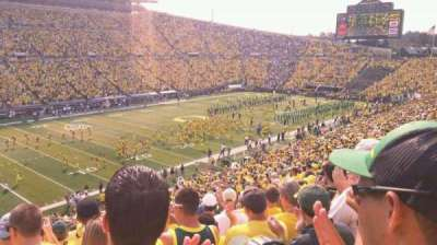 Autzen Stadium, section: 16, row: 50, seat: 15