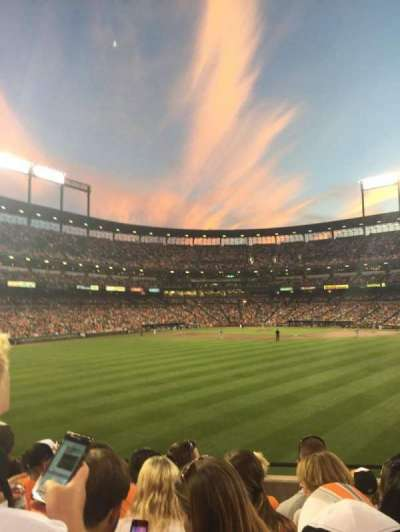 Oriole Park at Camden Yards, section: Bleachers
