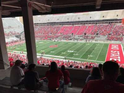 Ohio Stadium, section: 12b, row: 8, seat: 17
