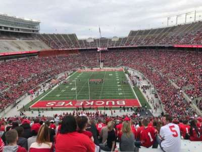Ohio Stadium, section: 38b, row: 27, seat: 25