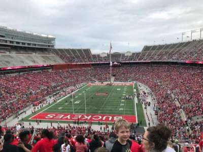 Ohio Stadium, section: 38b, row: 28, seat: 3