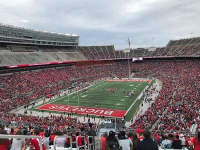 Ohio Stadium, section: 34b, row: 28, seat: 32