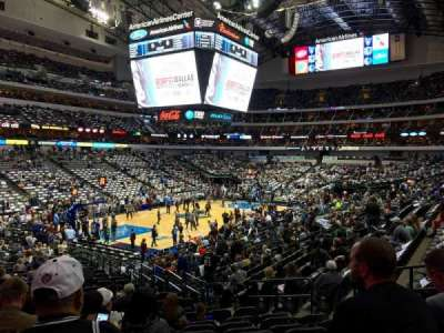 American Airlines Center, section: 122, row: X, seat: 9