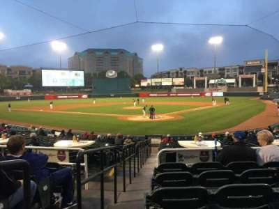 Dr Pepper Ballpark, section: 113, row: 18, seat: 12