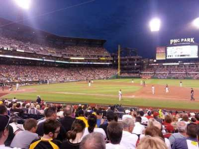 PNC Park, section: 109, row: G, seat: 9