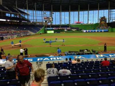 Marlins Park, section: 10, row: 1, seat: 1