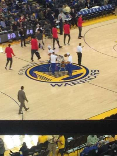 Oracle Arena, section: 220, row: 1, seat: 11