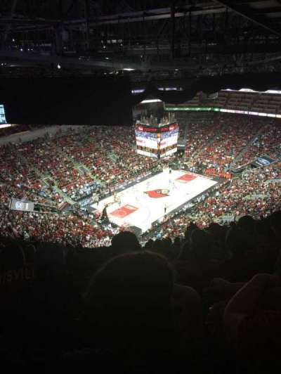 KFC Yum! Center, section: 312, row: W, seat: 15