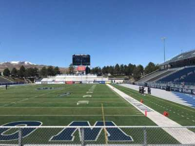 Mackay Stadium, section: Bleachers, row: 4, seat: Right Sect