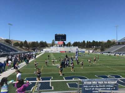 Mackay Stadium, section: Bleachers, row: 4, seat: Left Secti