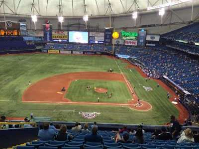 Tropicana Field, section: 309, row: P, seat: 7