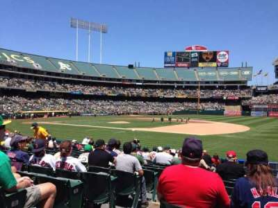 Oakland Alameda Coliseum, section: 109, row: 17, seat: 16