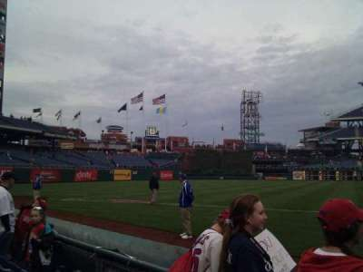 Citizens Bank Park, section: 134, row: 3, seat: 8