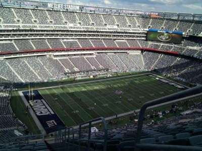 MetLife Stadium, section: 344, row: 25, seat: 1