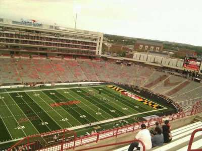 Maryland Stadium, section: 302, row: o, seat: 19