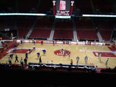 Liacouras Center, section: 203, row: e, seat: 7