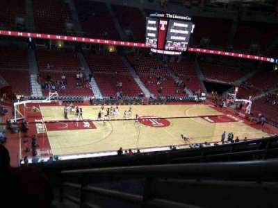 Liacouras Center, section: 215, row: f, seat: 5