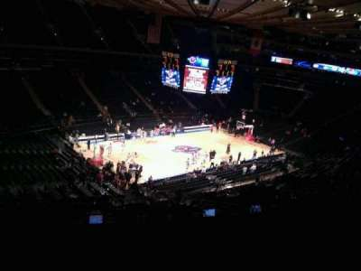 Madison Square Garden, section: 221, row: 13, seat: 6