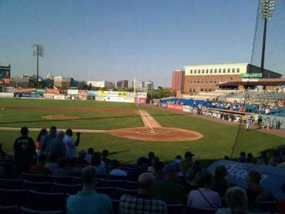Frawley Stadium, section: k, row: 1, seat: 6