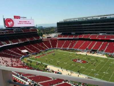 Levi's Stadium, section: 408, row: 1, seat: 17