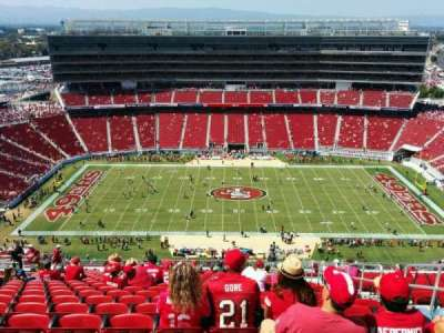 Levi's Stadium, section: 412, row: 23, seat: 5