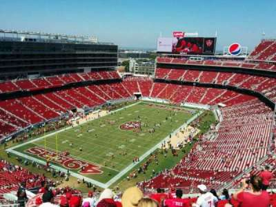 Levi's Stadium, section: 420, row: 14, seat: 20