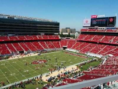 Levi's Stadium, section: 318, row: 1, seat: 16
