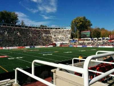 Percival Molson Memorial Stadium, section: v1, row: 1, seat: 15