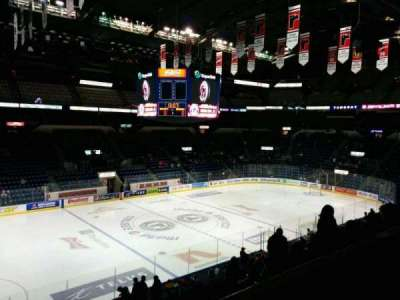 Colisée Pepsi, section: 215, row: B, seat: 15