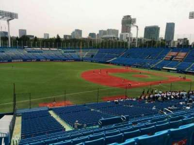 Jingu Stadium, section: 12, row: 45, seat: 191