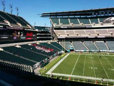 Lincoln Financial Field, section: v37, row: 1, seat: 6