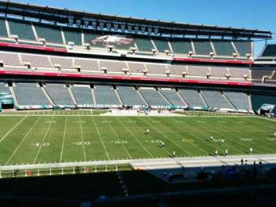 Lincoln Financial Field, section: c38, row: 4, seat: 1