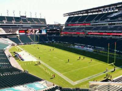 Lincoln Financial Field, section: NE Terrace 3, row: 3, seat: 33