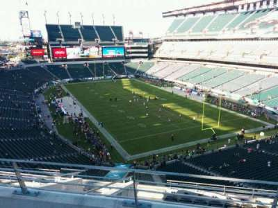 Lincoln Financial Field, section: mlpd, row: 3, seat: 10