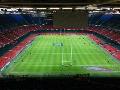 Principality Stadium, section: u20, row: 33, seat: 20