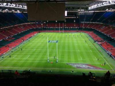Principality Stadium, section: u19, row: 26, seat: 18