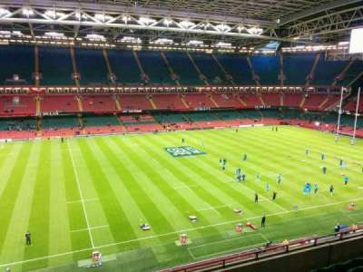 Principality Stadium, section: U11, row: 7, seat: 7