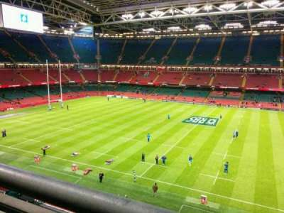 Principality Stadium, section: U8, row: 1, seat: 15