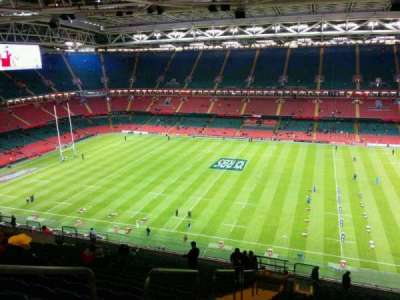 Principality Stadium, section: U7, row: 27, seat: 3