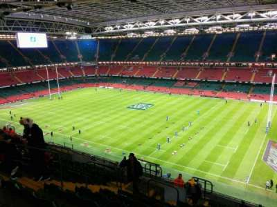Principality Stadium, section: U5, row: 20, seat: 10