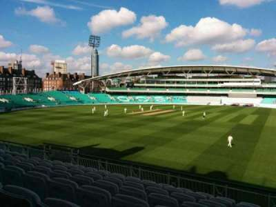 Kia Oval, section: middle pavilion, row: g, seat: 26
