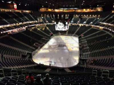 T-Mobile Arena, section: 215, row: m, seat: 9